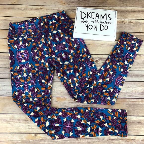 740b0045b22d3d LuLaRoe Pants | Blue Orange Purple Leggings Size Os | Poshmark